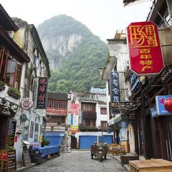 Yangshuo parduotuvių gatvė