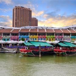 Singapore Riverside: Clarke Quay, Robertson Quay, Boat Quay, Singapura
