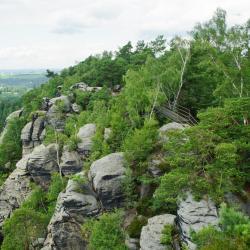 Elbe Kumtaşı Dağları, Arnoltice u Decina