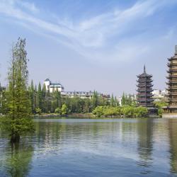 Sun and Moon Twin Pagodas