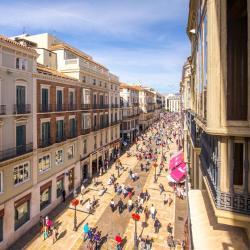 a Calle Marqués de Larios bevásárlóutca, Málaga