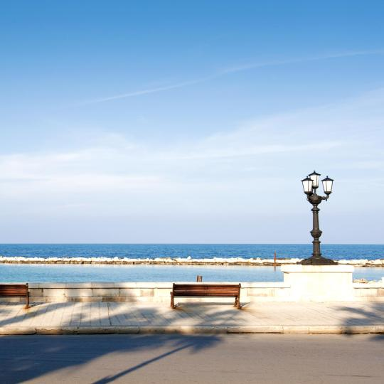 Bari's old town and seafront