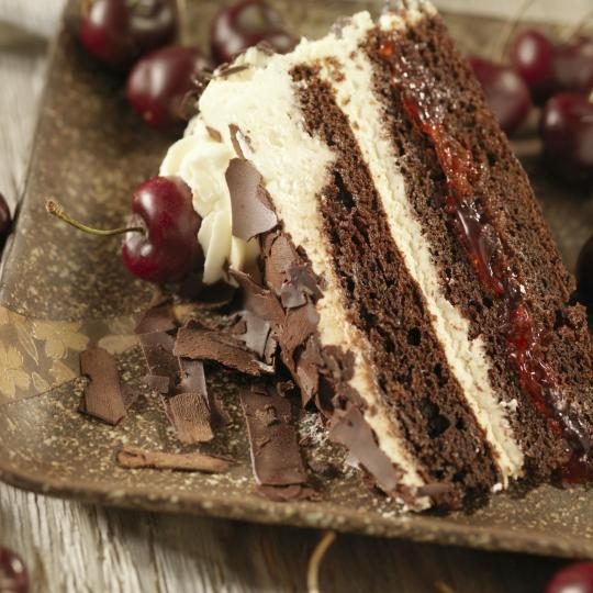 Indulge in Black Forest cake at Cafe Schäfe