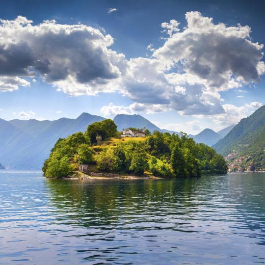 Head to Isola Comacina, in the heart of Lake Como