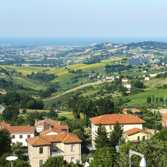 Enjoy views and literary connections in Recanati