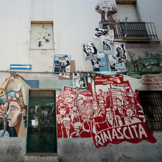 Pomalované zdi v Orgosolu