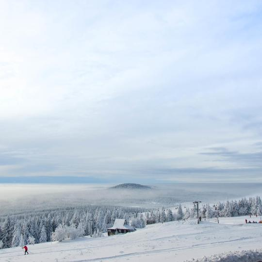 Skiing in the Ore Mountains