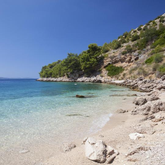 Hvar's secluded beaches