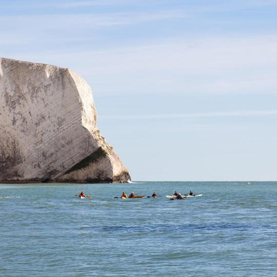 Water-sports on the English Channel's shores