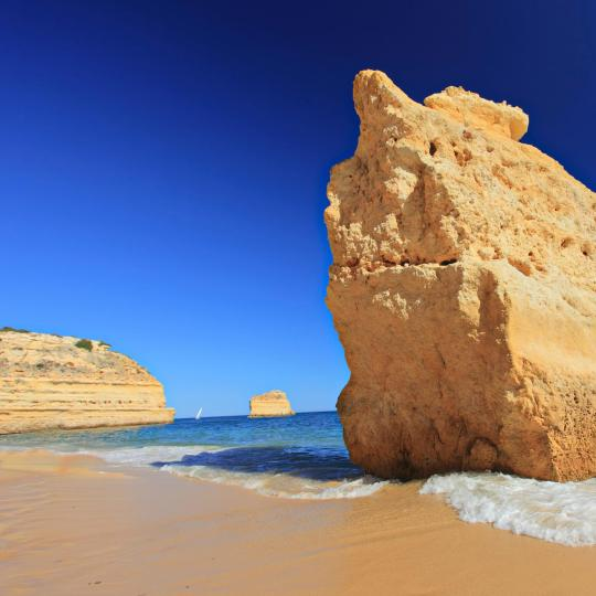 The Algarve's golden beaches