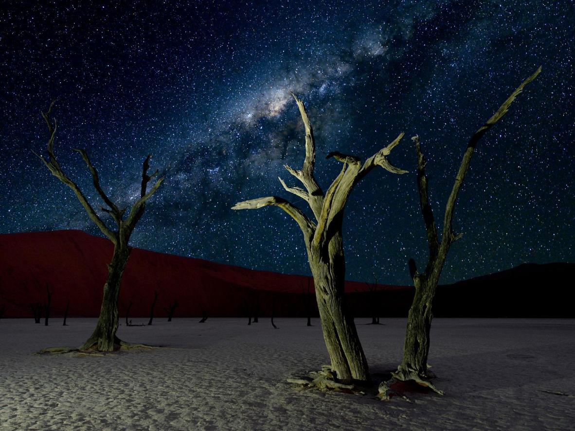 A surreal setting for stargazing, Sesriem, Namibia