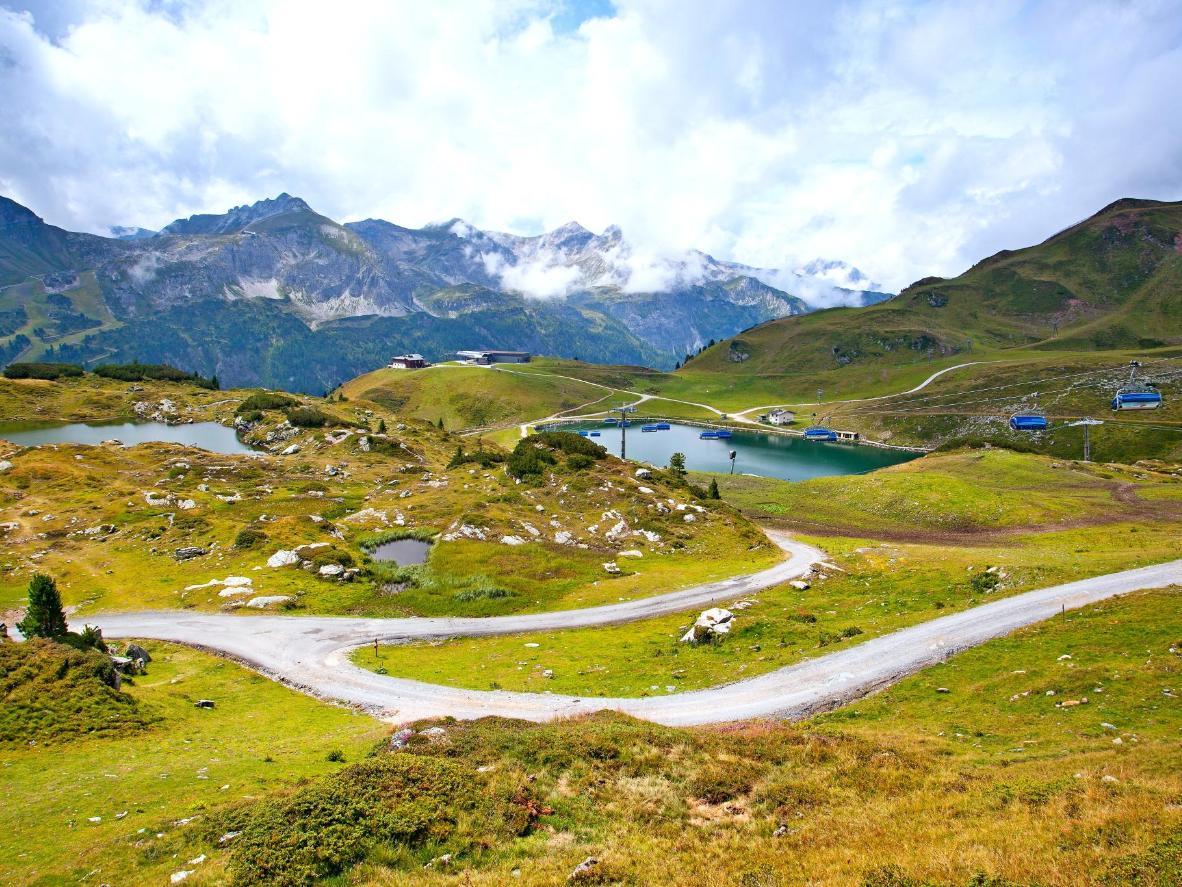 Enjoy mountain biking down the steep slopes
