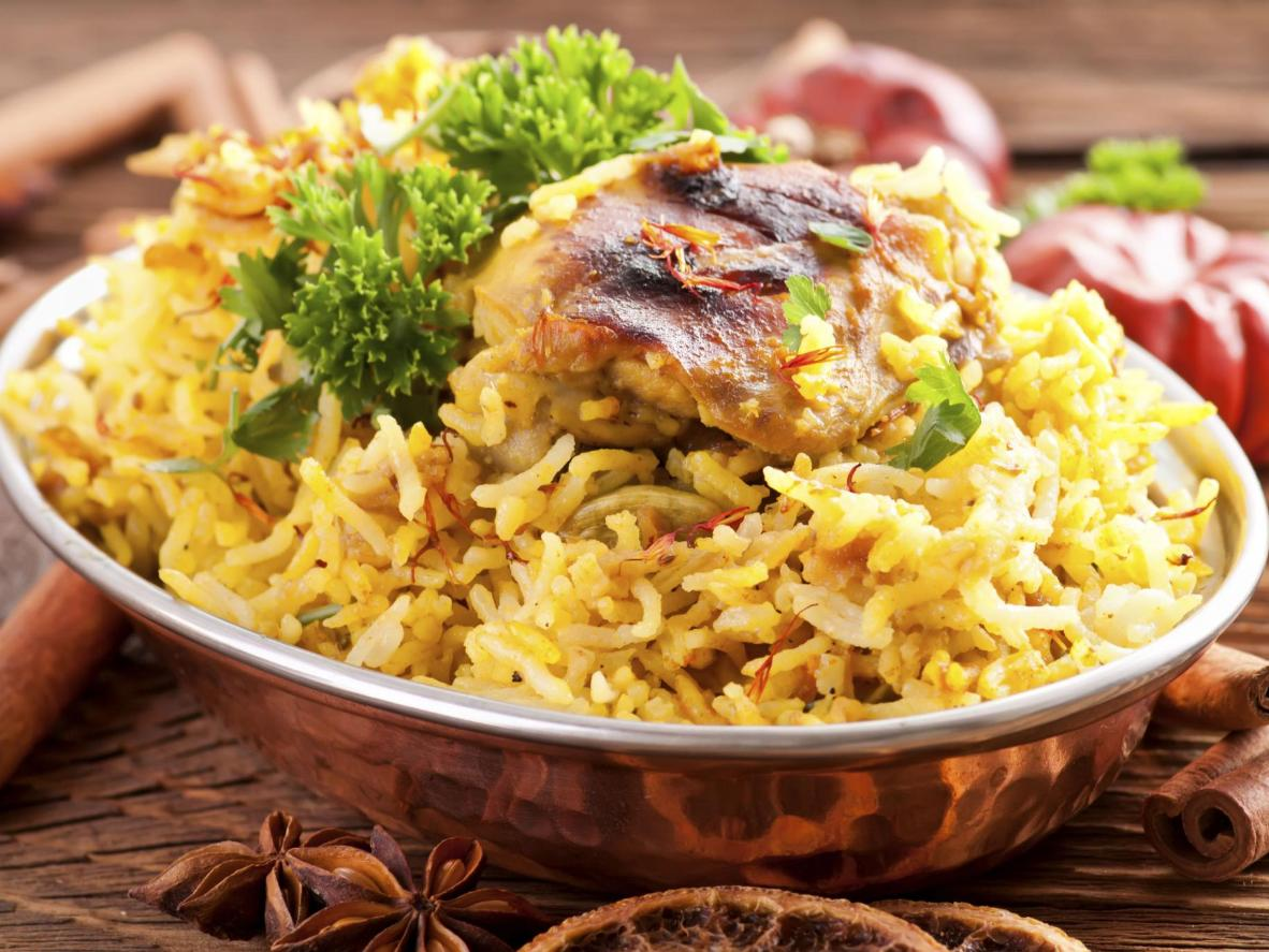 A spiced rice and chicken dish that really turns up the heat