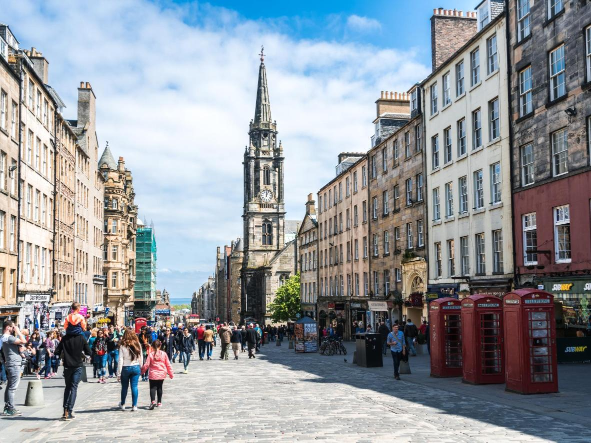 The Royal Mile is the hub of the Old Town