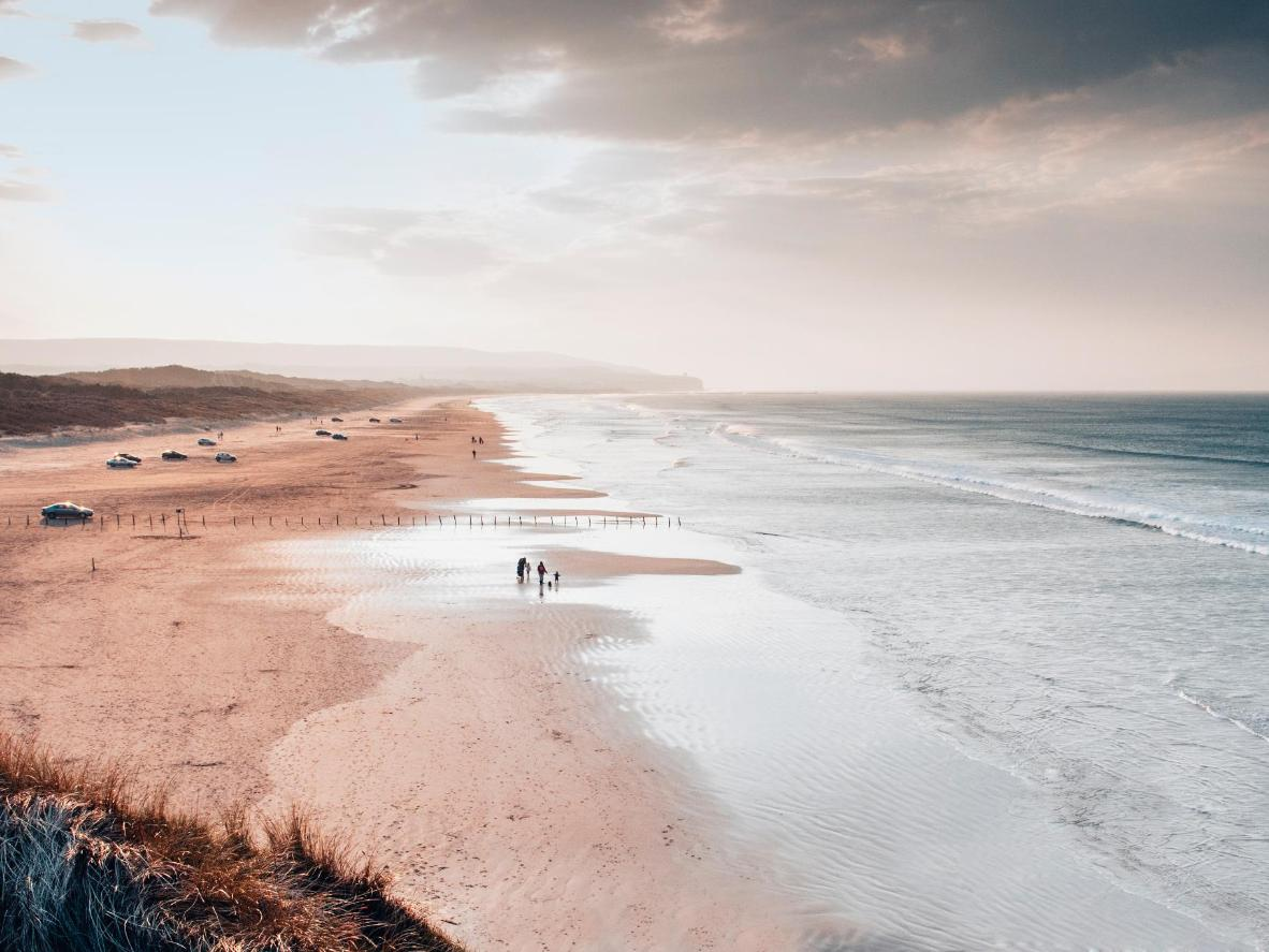 Portstewart Strand beach in Northern Ireland
