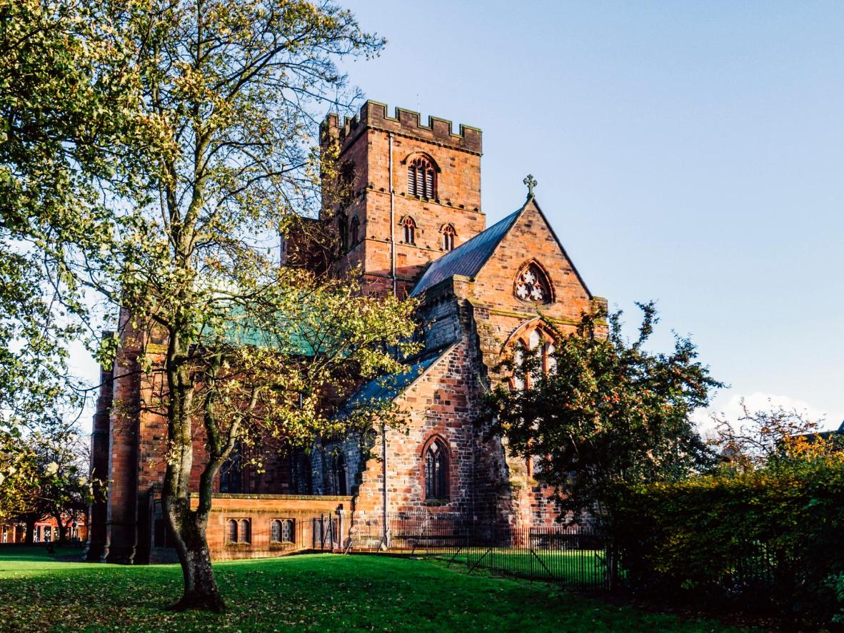 Carlisle Cathedral in the late afternoon sun