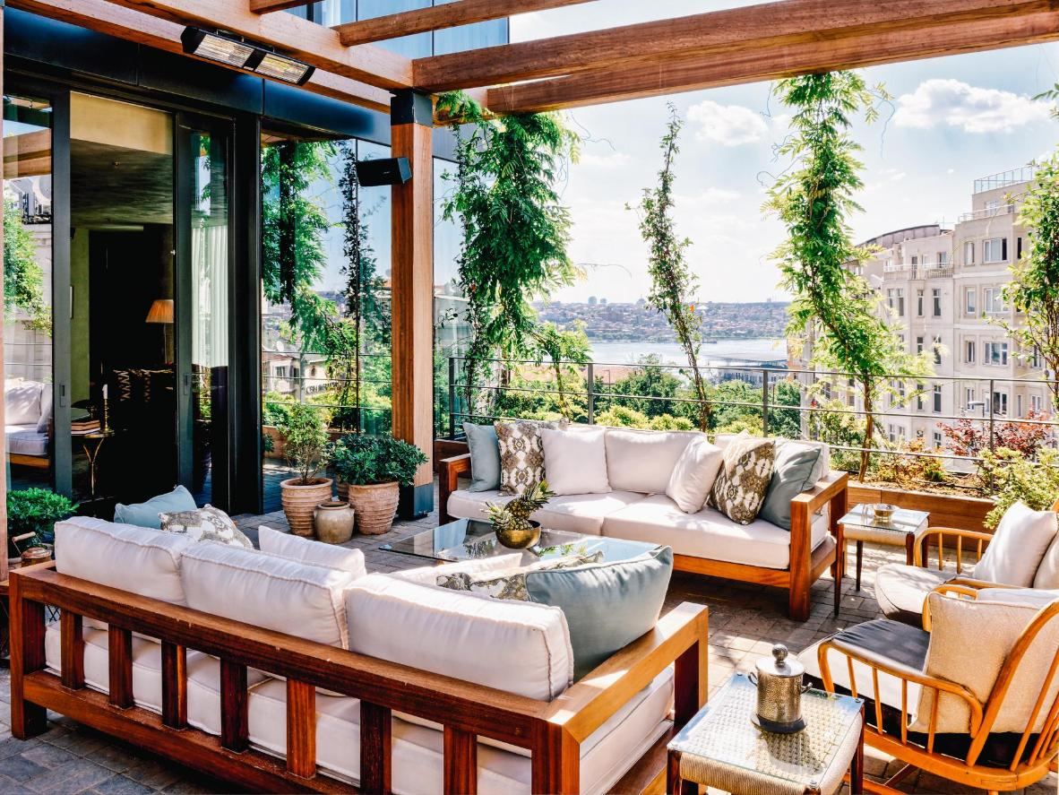 The exclusive rooftop pool at Soho House Istanbul has a no photo rule