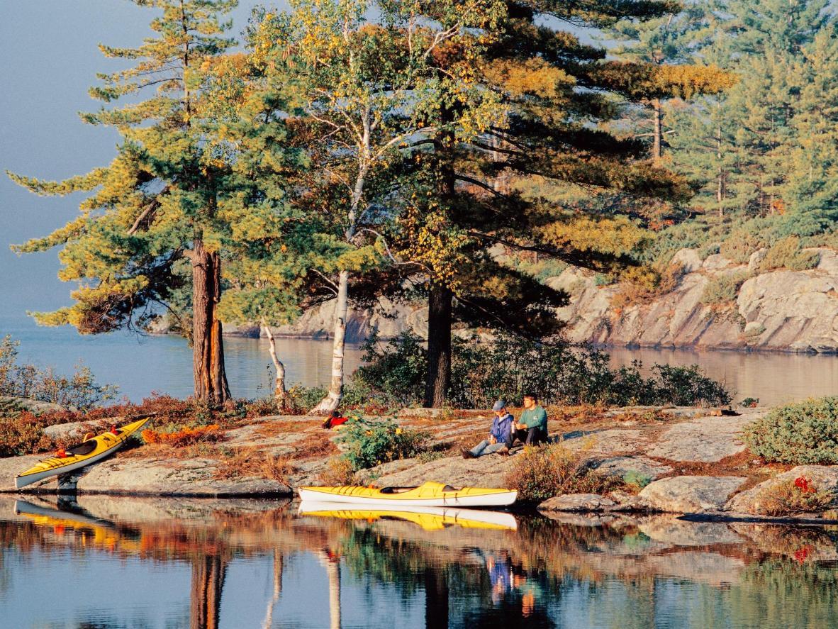 Take a family kayaking trip through the Muskoka region