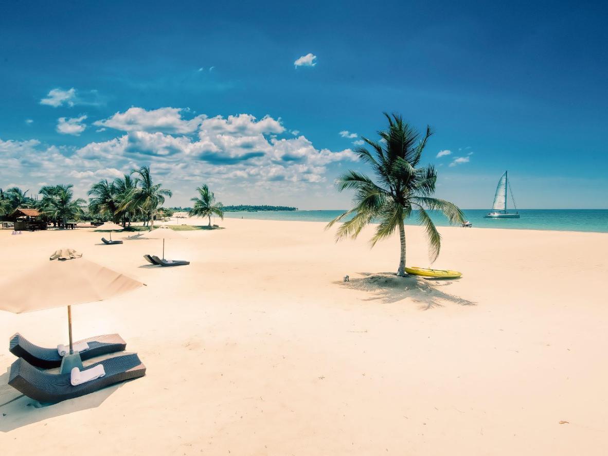 スリランカのパシクダビーチ