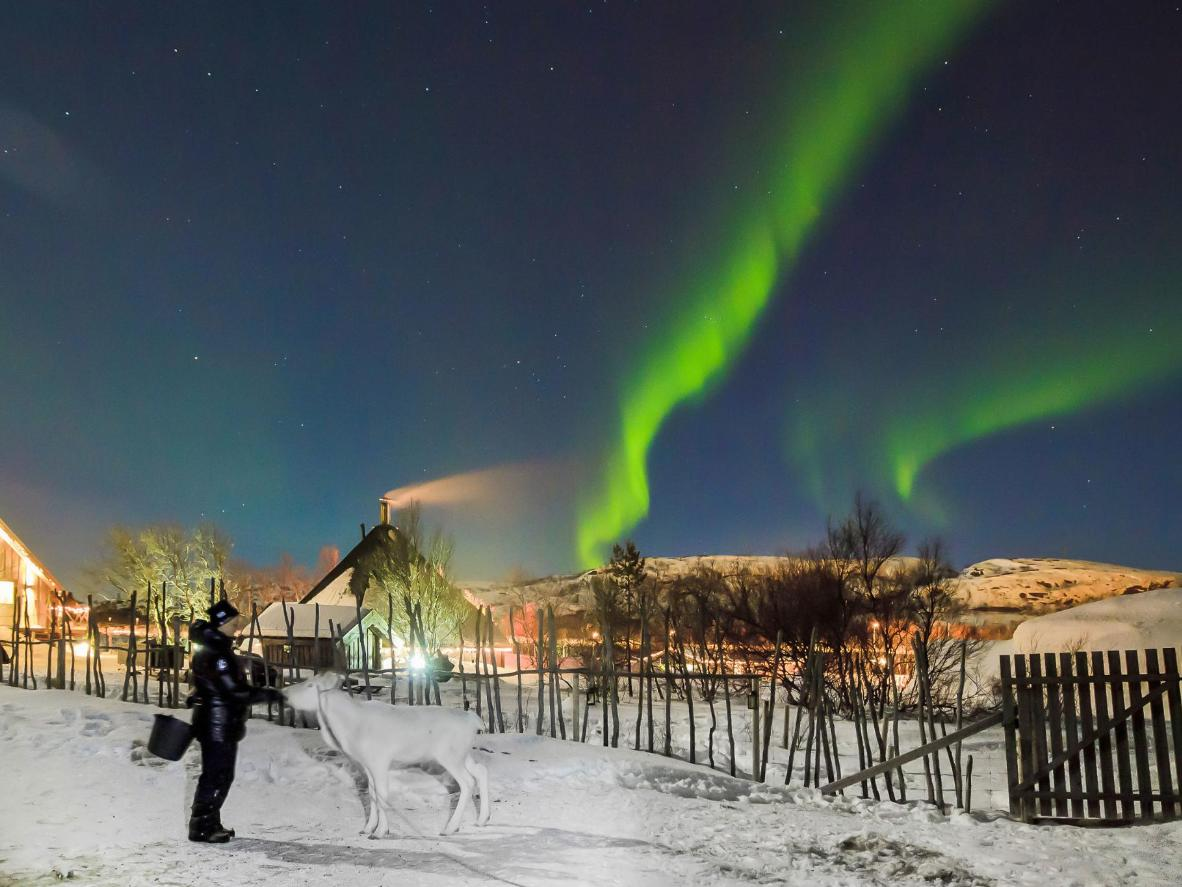 Kirkenes is a remote spot for viewing the Aurora Borealis