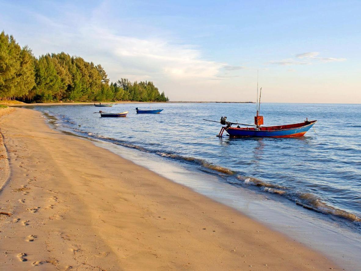 A Csau Lau-part egy félreeső, ezért viszonylag érintetlen strand
