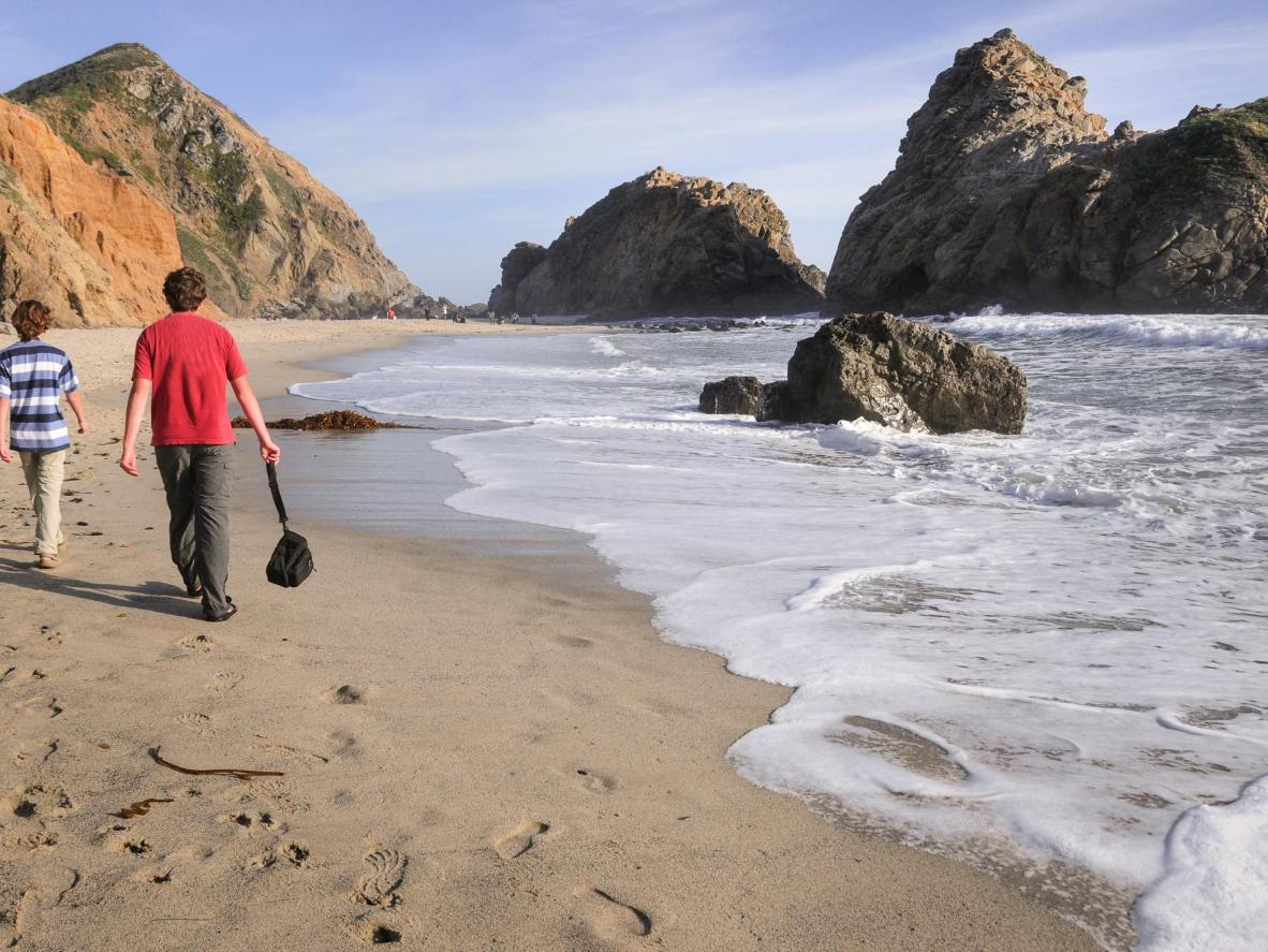 Head down to Pfeiffer Beach just before sunset for unforgettable views
