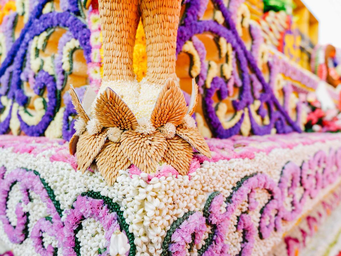 A decoration from Chiang Mai Flower Festival in February