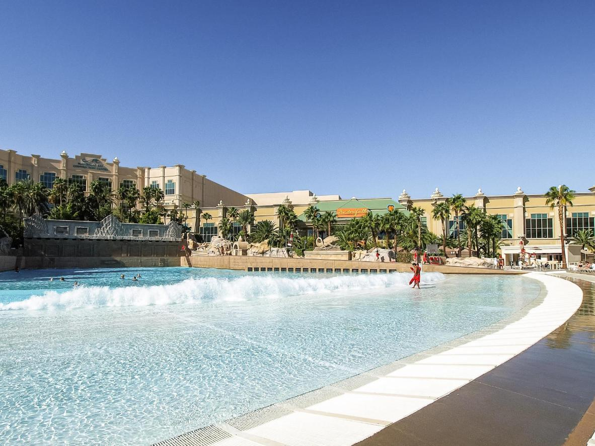 Soak up the rays in Vegas lazing by a pool before hitting the Strip later on