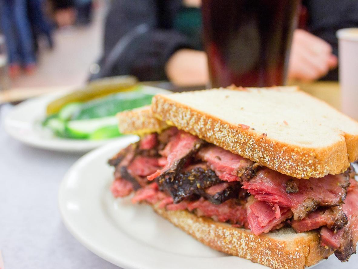 In a country famed for its high quality beef, the pastrami sandwiches won't disappoint