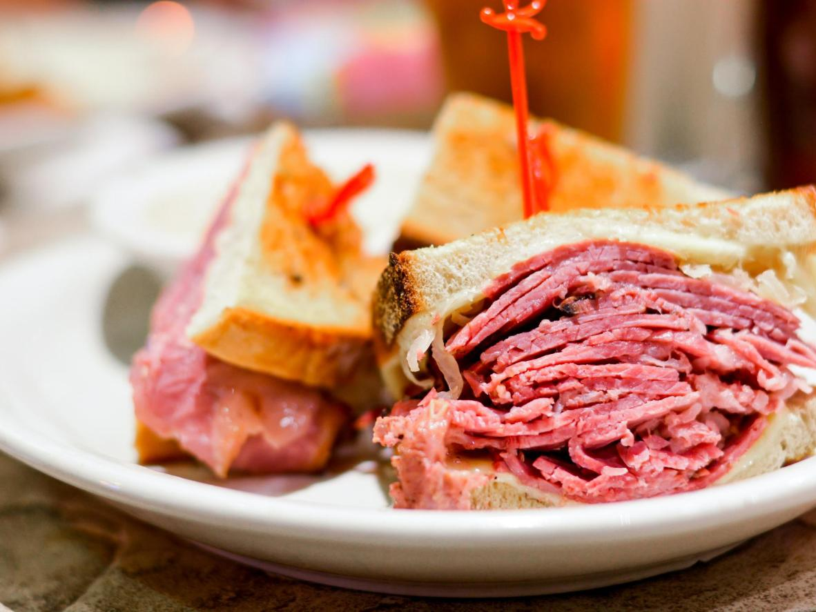 Pastrami sanwiches aren't ubiquitous in Tel Aviv but when you do find one, it's bound to be good