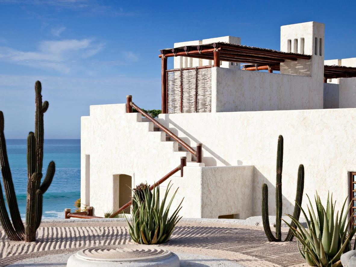 Facing the Sea of Cortez, this palatial hotel provides private hot tubs and infinity pools bordered by cacti