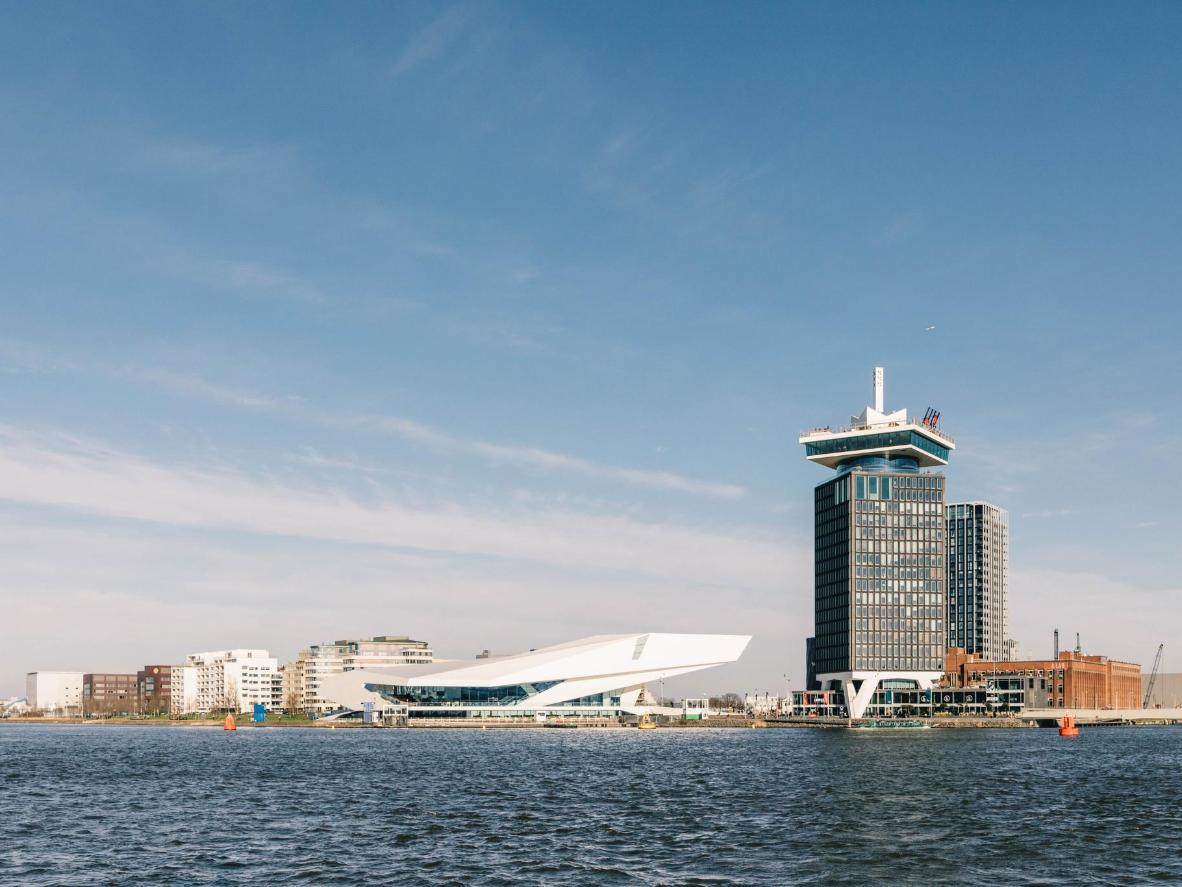A 2-minute ferry ride from Centraal Station, you'll find a waterfront area crammed with culture