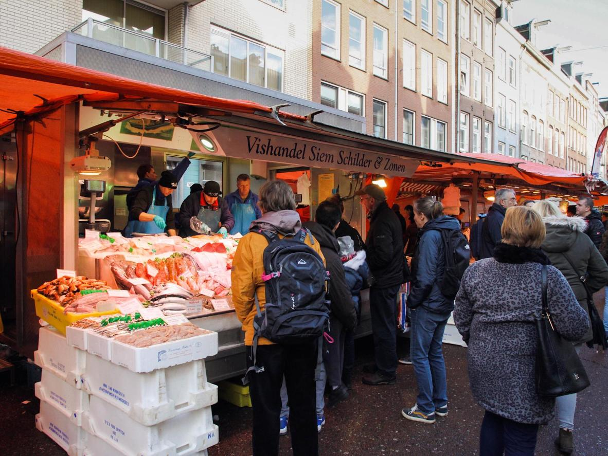 Check out the Albert Cuypmarkt in De Pijp, Oud Zuid