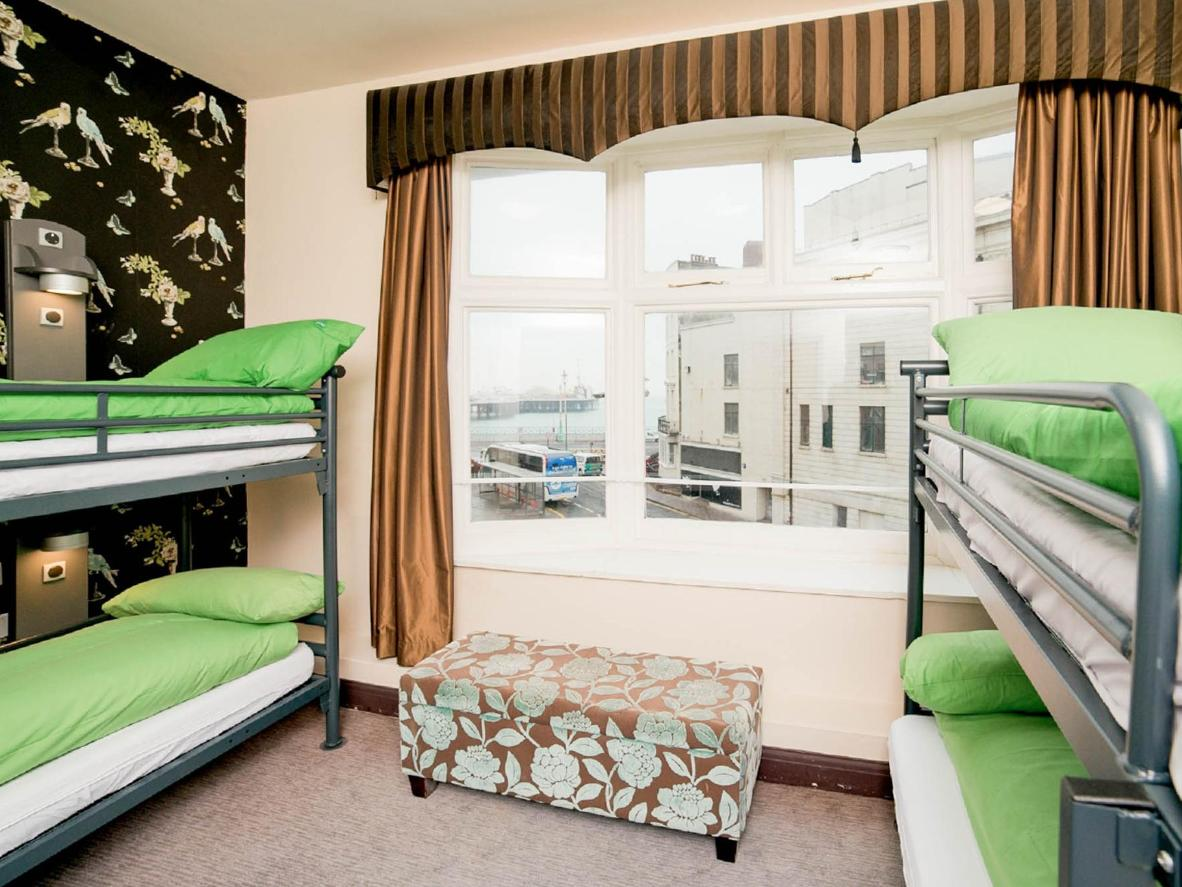 The YHA occupies a Grade II-listed Regency building just minutes from Brighton Pier