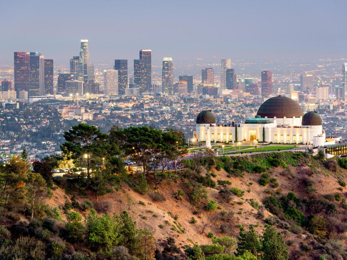 The Griffith Park Observatory in Los Angeles