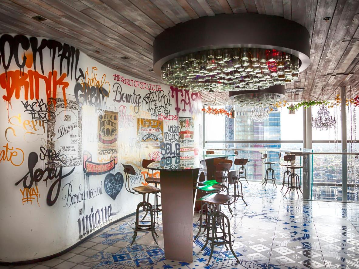 24-hour dining 40 floors up in the Heron Tower's Duck & Waffle restaurant