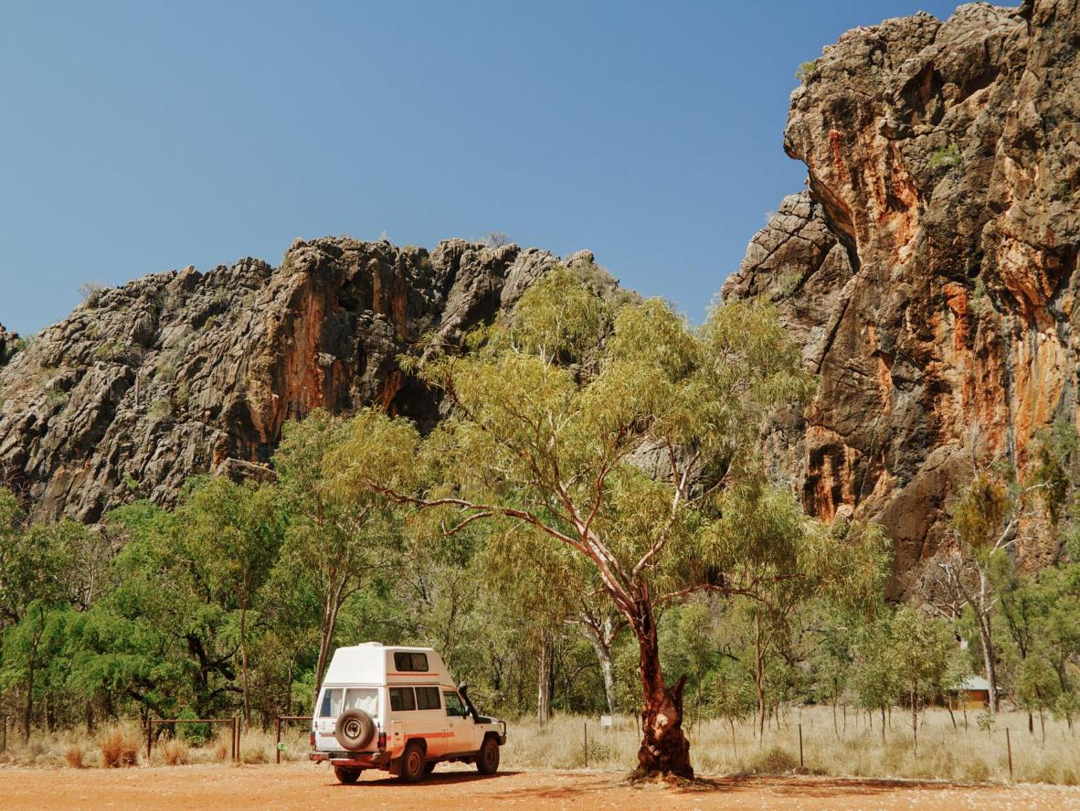 Pass sacred Aboriginal sites, outback cattle stations and multi-tiered waterfalls on the Gibb River Road