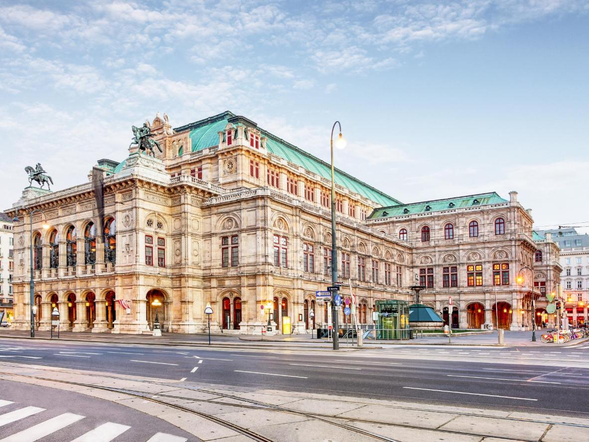 Take in views of the Vienna Opera House as you wander this immaculate city
