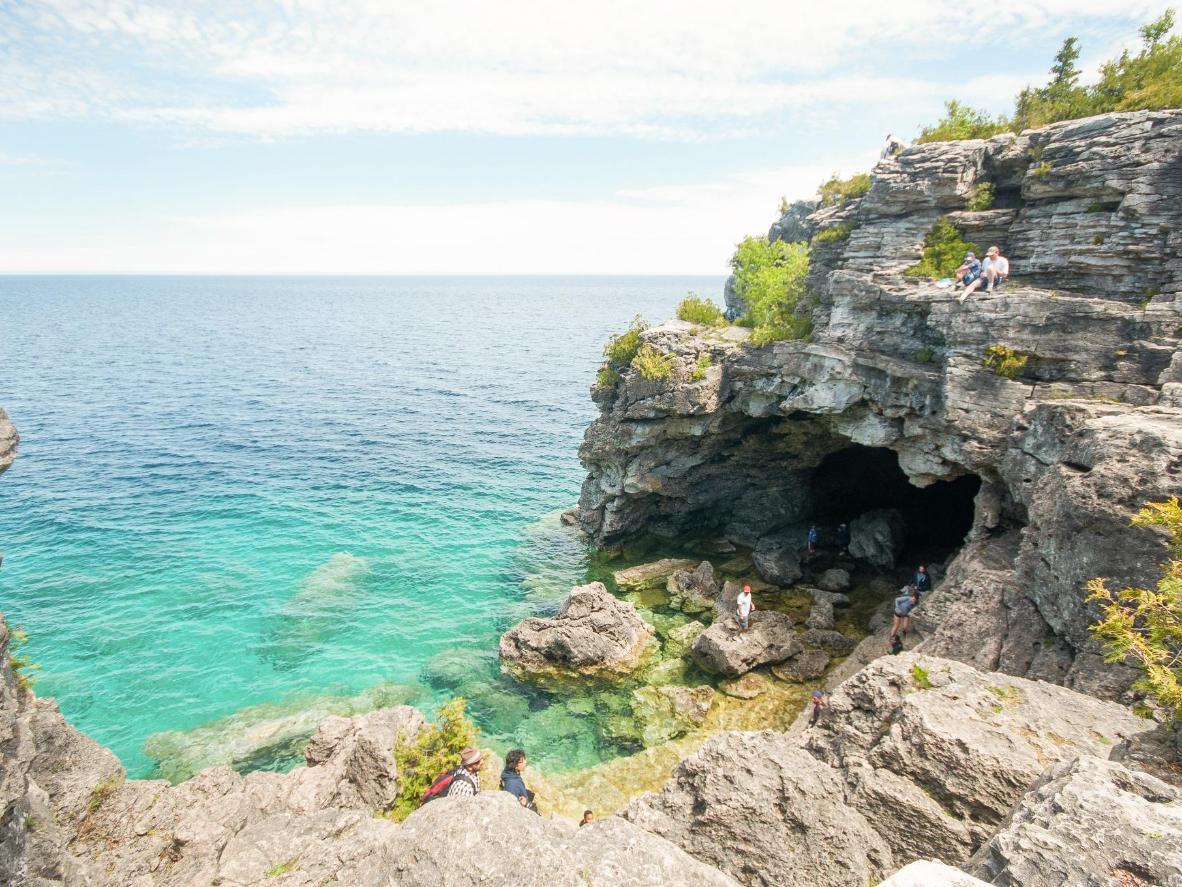 Morski usjek u špilji The Grotto u nacionalnom parku Bruce Peninsula