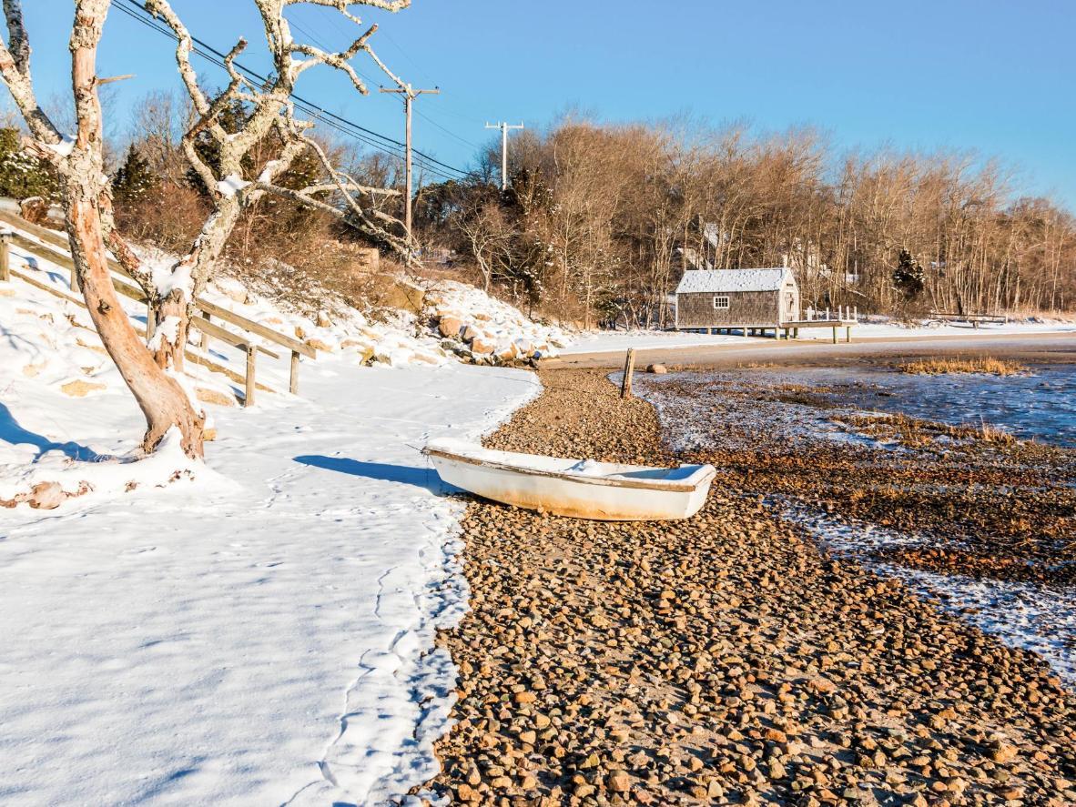 Zimą Nantucket przemienia się z turystycznego centrum w śnieżną oazę spokoju