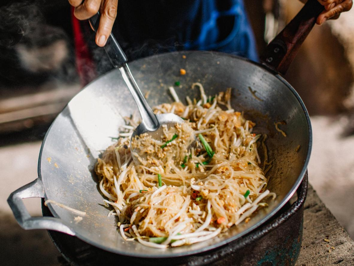 Pad Thai is a stir fried sensation whipped up in moments