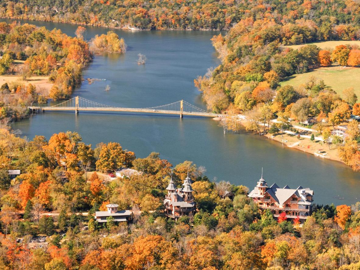Visit in the fall to see Eureka Springs draped in golden foliage