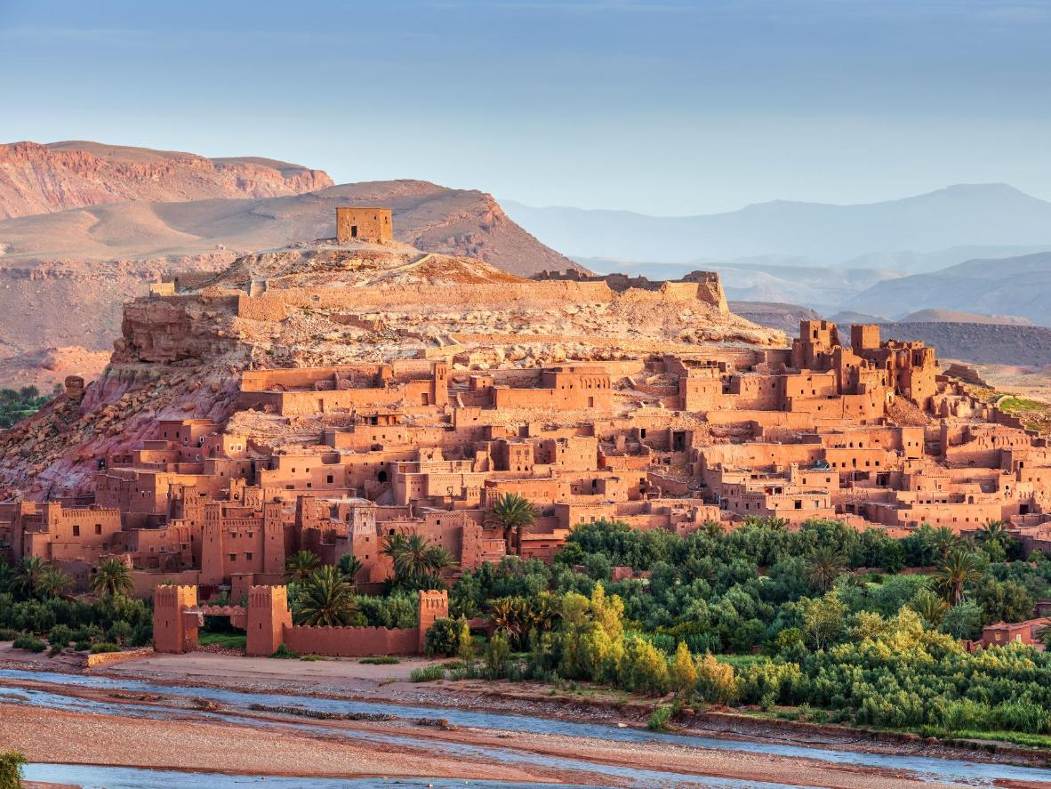 Watch the sunrise or sunset over the Kasbah in the ancient fortified village of Ait Ben Haddou