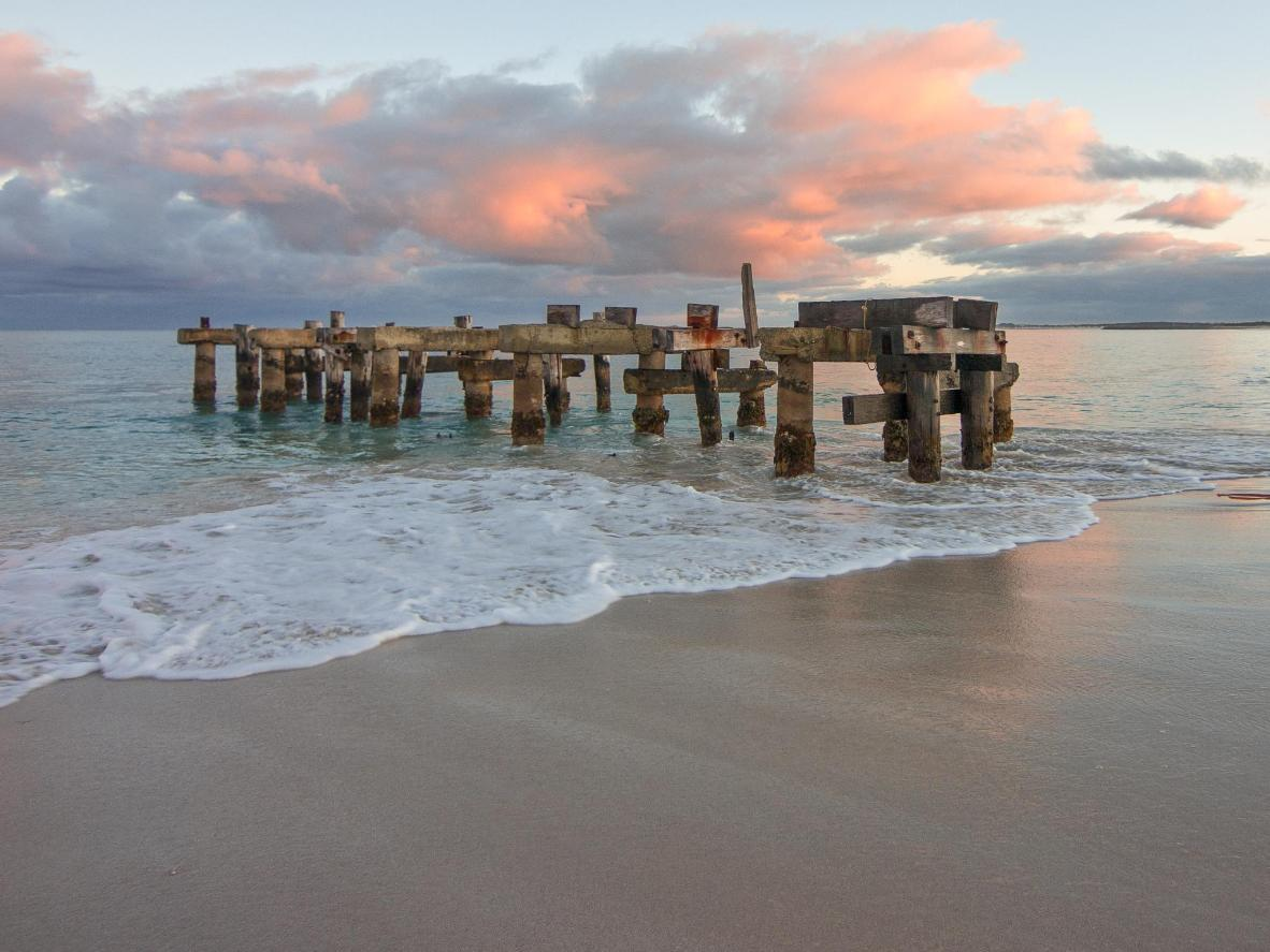 Jurien Bay's jetty is a whimsical spot to watch the sunset