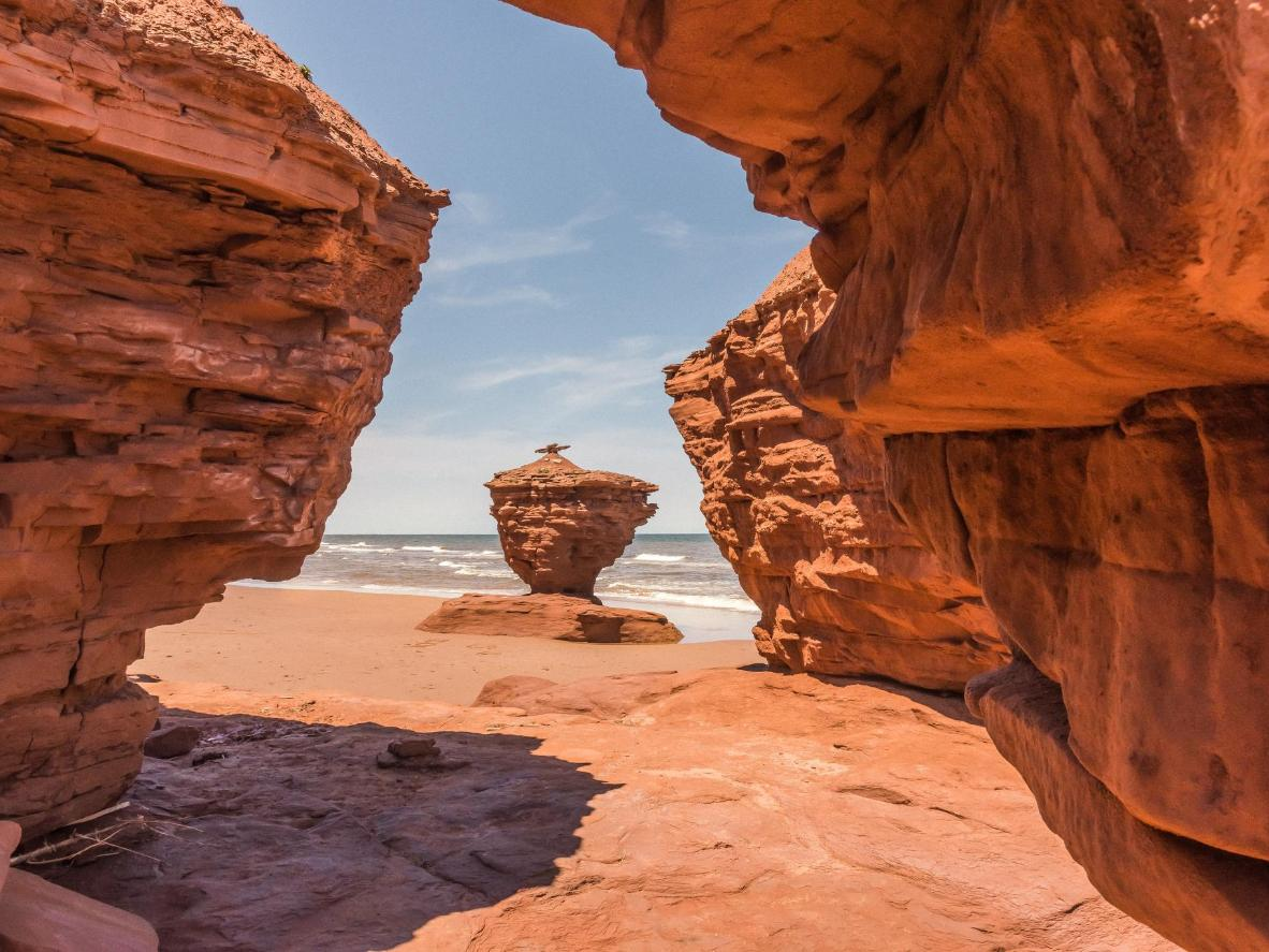 Visit a huge sandstone tea cup