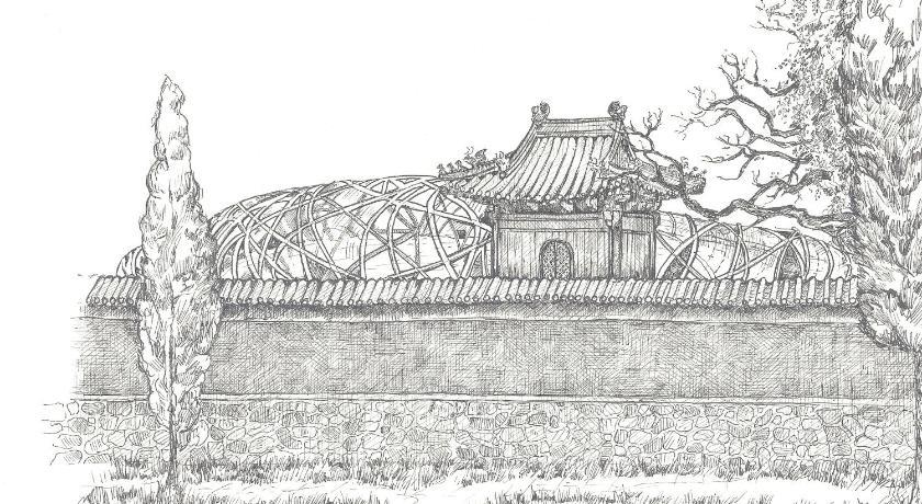 欧式城墙简笔画