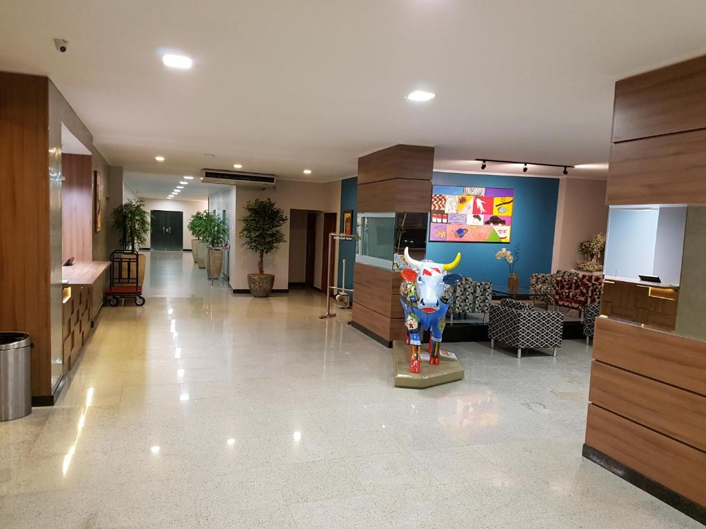 The lobby or reception area at Belém Soft Hotel