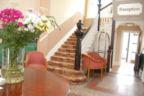 The lobby or reception area at The Waterloo Hotel & Bistro