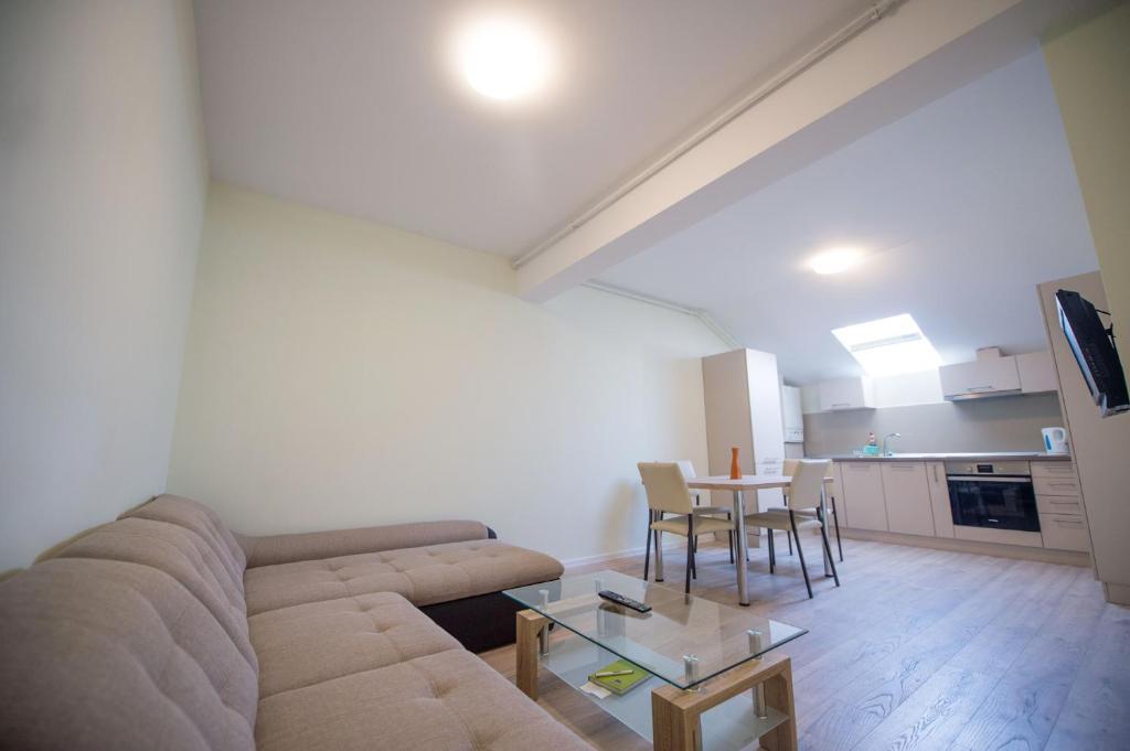 אזור ישיבה ב-Apartament Soarelui