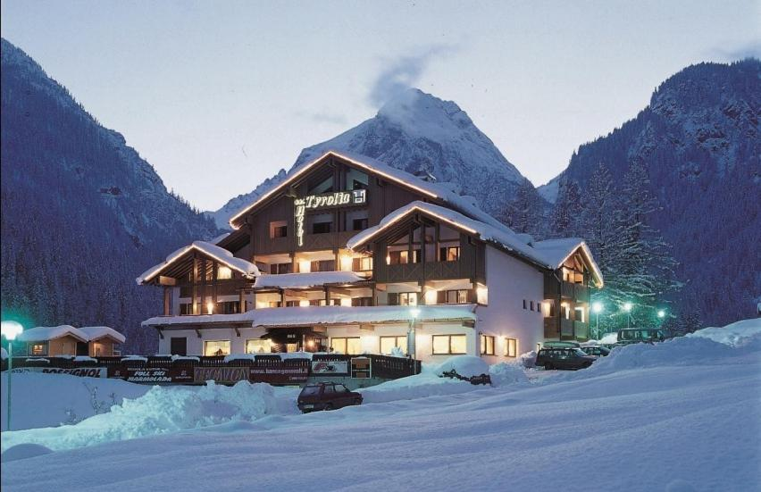 Hotel Tyrolia during the winter